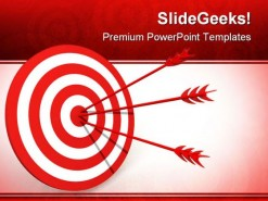 Target Business PowerPoint Backgrounds And Templates 1210