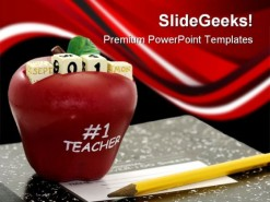 Teacher01 Education PowerPoint Template 0810