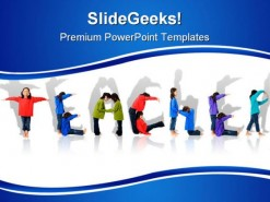 Teacher Children PowerPoint Template 0810