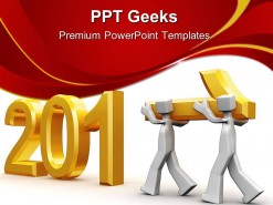 Team Celebrating New Year 2011 Future PowerPoint Templates And PowerPoint Backgrounds 0411