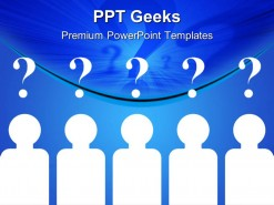 Team Questions Business PowerPoint Templates And PowerPoint Backgrounds 0411