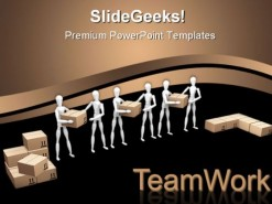 Teamwork01 Business PowerPoint Background And Template 1210