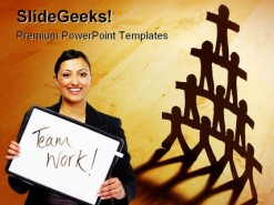 Teamwork People PowerPoint Backgrounds And Templates 1210