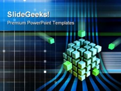 Technology Cubes Business PowerPoint Template 0810