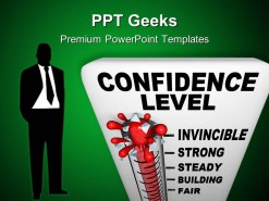 Thermometer Of Confidence Level Science PowerPoint Templates And PowerPoint Backgrounds 0411