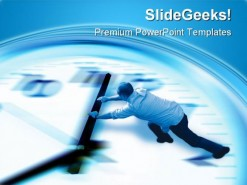 Turn Back Time People PowerPoint Template 1110