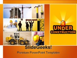 Under Construction Transportation PowerPoint Template 0910