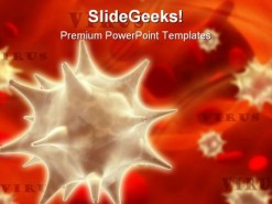 Virus Medical PowerPoint Template 0610