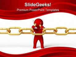 Weak Link Chain Security PowerPoint Template 0910
