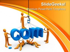 Web Design Internet PowerPoint Template 0810