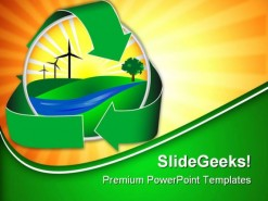 Wind Power Icon Nature PowerPoint Backgrounds And Templates 1210