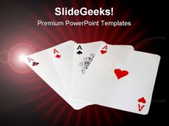 Winner Cards Game PowerPoint Template 1110