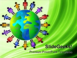 World People PowerPoint Template 1010