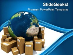 Worldwide Delivery Globe PowerPoint Template 1110