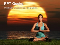 Yoga Sunrise Health PowerPoint Templates And PowerPoint Backgrounds 0411