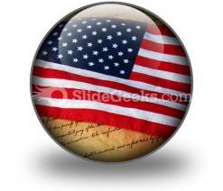 America Flag PowerPoint Icon C