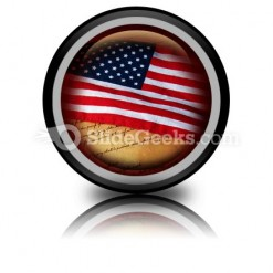America Flag PowerPoint Icon Cc