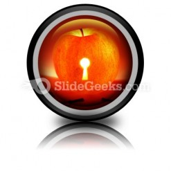Apple With Keys PowerPoint Icon Cc