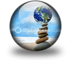 Balanced World PowerPoint Icon C