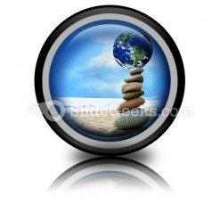 Balanced World PowerPoint Icon Cc