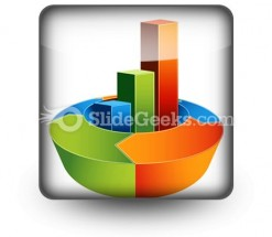 Bar Arrow Chart PowerPoint Icon S