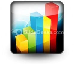 Bar Graph PowerPoint Icon S