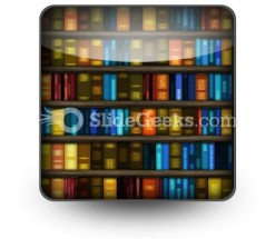 Book Case PowerPoint Icon S