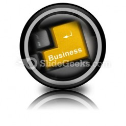 Business Computer Key PowerPoint Icon Cc