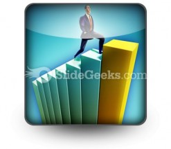 Business Growth PowerPoint Icon S