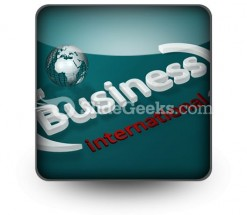 Business International PowerPoint Icon S