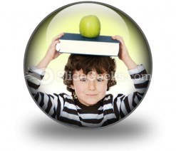Child Boy Studying PowerPoint Icon C