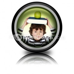 Child Boy Studying PowerPoint Icon Cc