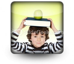 Child Boy Studying PowerPoint Icon S