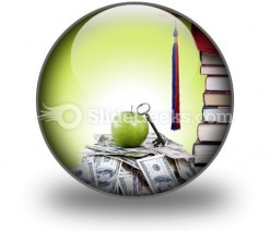 College Money PowerPoint Icon C
