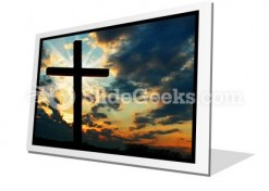 Cross At Sunset PowerPoint Icon F