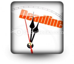 Deadline PowerPoint Icon S