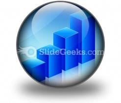 Economic Graph PowerPoint Icon C