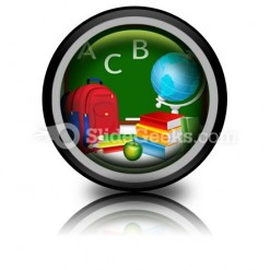 Education PowerPoint Icon Cc