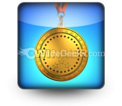 Gold Medal PowerPoint Icon S