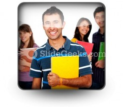 Group Of Students02 PowerPoint Icon S
