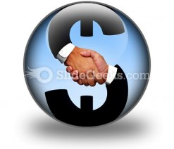 Handshake With Money PowerPoint Icon C