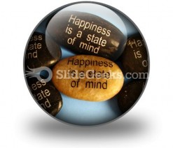 Happiness Affirmations PowerPoint Icon C