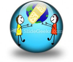 Heal The World PowerPoint Icon C