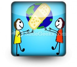 Heal The World PowerPoint Icon S