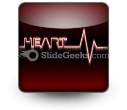Heart Beat PowerPoint Icon S