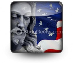 Jesus In America People PowerPoint Icon S