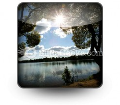 Lake Sun PowerPoint Icon S