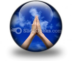 Praying Hands PowerPoint Icon C