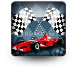 Red Formula Car PowerPoint Icon S