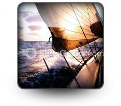 Sailing To The Sunrise PowerPoint Icon S